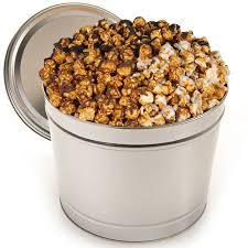 chocolate caramel popcorn tin by kingofpop