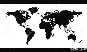 Black World Map by World Map Vector Royalty Free Cliparts Vectors And Stock