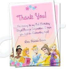 princess birthday thank you cards