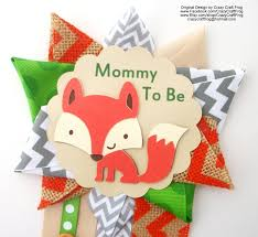fox baby shower corsage or woodland animals baby shower corsage