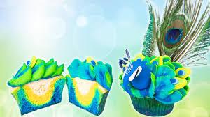 how to make peacock cupcakes u0026 vidcon give away youtube