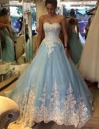 Blue Wedding Dress New Design Light Blue Sweetheart Wedding Dress Charming Tulle