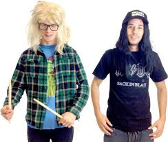 halloween city fort wayne amazon com wayne u0027s world garth and wayne costume set clothing