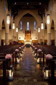 wedding arches in church creative church wedding candles decorations weddceremony