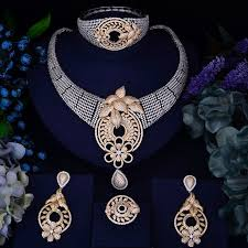gold zirconia necklace images Godki new arrival gold silver interval fashion women luxury bridal jpg