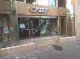 siege cfdt loi travail le siège de la cfdt vandalisé pendant une
