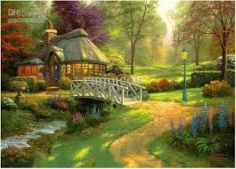 322 best kinkade paintings images on landscapes