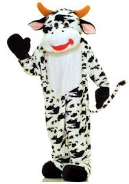 mascot costumes for halloween mascot cow costume