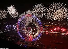 new years london rings in 2017 with spectacular fireworks display for new