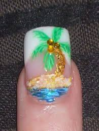 day 315 embellished palm tree nail art nails magazine