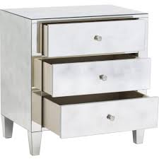 nightstand splendid furniture narrow custom diy mirrored