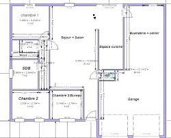 plan maison 100m2 3 chambres plan maison plain pied plan maison ossature bois plain pied plan