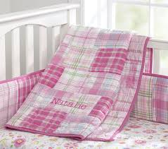 Plaid Crib Bedding Pink Bedding For Pretty Baby Nursery From Prottery Barn