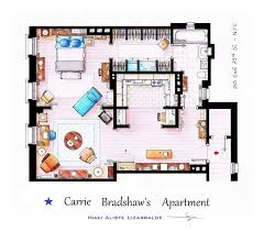 hand drawn floor plans of your favorite tv shows by shyree on
