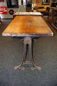 Drafting Table Antique Antique 1900s Drafting Table W Cast Iron Legs Industrial Table