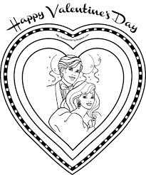 valentine coloring page funycoloring