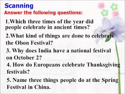 festivals around the world 李晓琴 work 1 help each other to