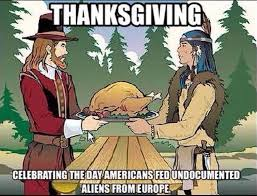 Thanks Giving Meme - one meme perfectly exposes the hypocrisy of how we talk about