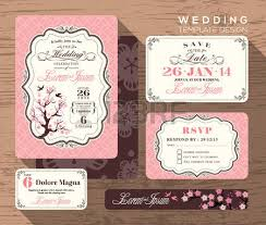 Free Save The Date Cards Vintage Wedding Invitation Set Design Template Vector Place Card