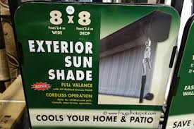 Costco Sunsetter Awning Impressive Marvelous Exterior Sun Shade Costco The 25 Best