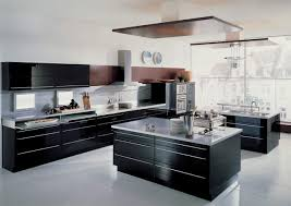 brown l shaped kitchen layout with subway backsplash also solid