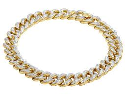 yellow gold cuban link bracelet images Jewelry unlimited 10k yellow gold men 39 s diamond 10mm miami cuban jpg