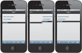 creating multipage websites in jquery mobile multipage template