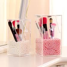 e show 1pcs small size clear acrylic makeup pen organizer diy