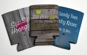wedding koozie ideas eat drink v3 0 saying wedding koozies by personalizedpockets