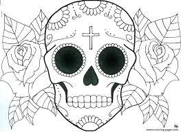 printable coloring pages sugar skulls sugar skull printable coloring pages vodaci info