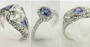 vintage estate engagement rings antique engagement rings with sapphires 5 ifec ci