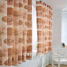 stylish sheel coffee color bay window kid curtains
