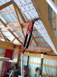 industrial led shop lights inexpensive garage lights from led strips led strip garage