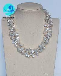 colour pearl necklace images 2018 natural freshwater keshi pearl irregular shaped baroque white jpg