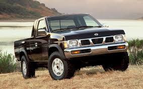 nissan trucks black 1995 nissan hardbody pickup 4x4 se v6 front three quarter jpg