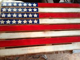Reclaimed Wood Flag American Flag Pallet Made Actually
