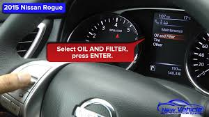 2015 nissan rogue oil light reset youtube