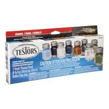 testors 0 25 oz 8 color military flat enamel paint set 6 pack