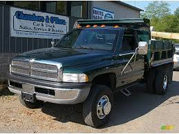 Dodge Truck Ram 3500 - 2000 forest green pearl dodge ram 3500 slt regular cab dump truck