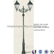 outdoor classic decorative yard lamp post with two lights buy