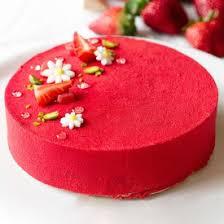 a very pretty strawberry shortcake entremet by chef lignac in