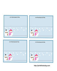 10 best images of holiday place card templates free printable