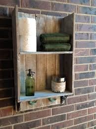 bathroom rustic diy recycled wood bathroom shelving for rustic