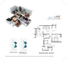 2bhk Plan by Floor Plans Of Bharat City Indraprastha Yojana 9015523000
