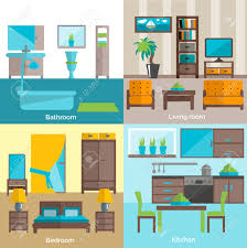 interior design for bathroom living room and kitchen furniture