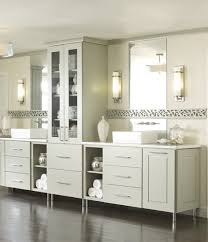 lighting ideas white bathroom vanity with darwes and cabinet also