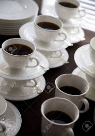 fancy coffee cups fancy coffee cups filled with hot coffee stock photo picture and