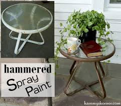 How To Paint Metal Patio Furniture - kammy u0027s korner updating a little outdoor end table the easy way