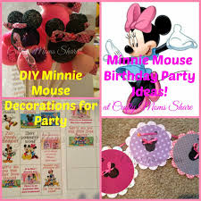 Birthday Decorations To Make At Home by Crafty Moms Share Minnie Mouse Birthday Party Diy Decorations