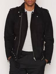 biker jacket shnsaint suede biker jacket selected homme black jackets